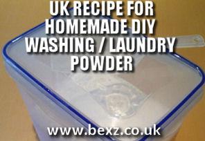 homemade uk washing powder laundry powder recipe - homemade uk washing powder laundry powder recipe