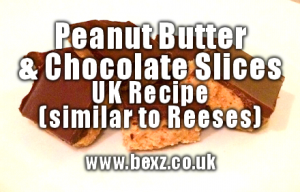 reeses peanut butter chocolate slices uk recipe1 300x192 - reeses peanut butter chocolate slices uk recipe