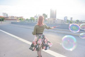 young handsome redhead woman playing with bubble 300x200 - young handsome redhead woman playing with bubble